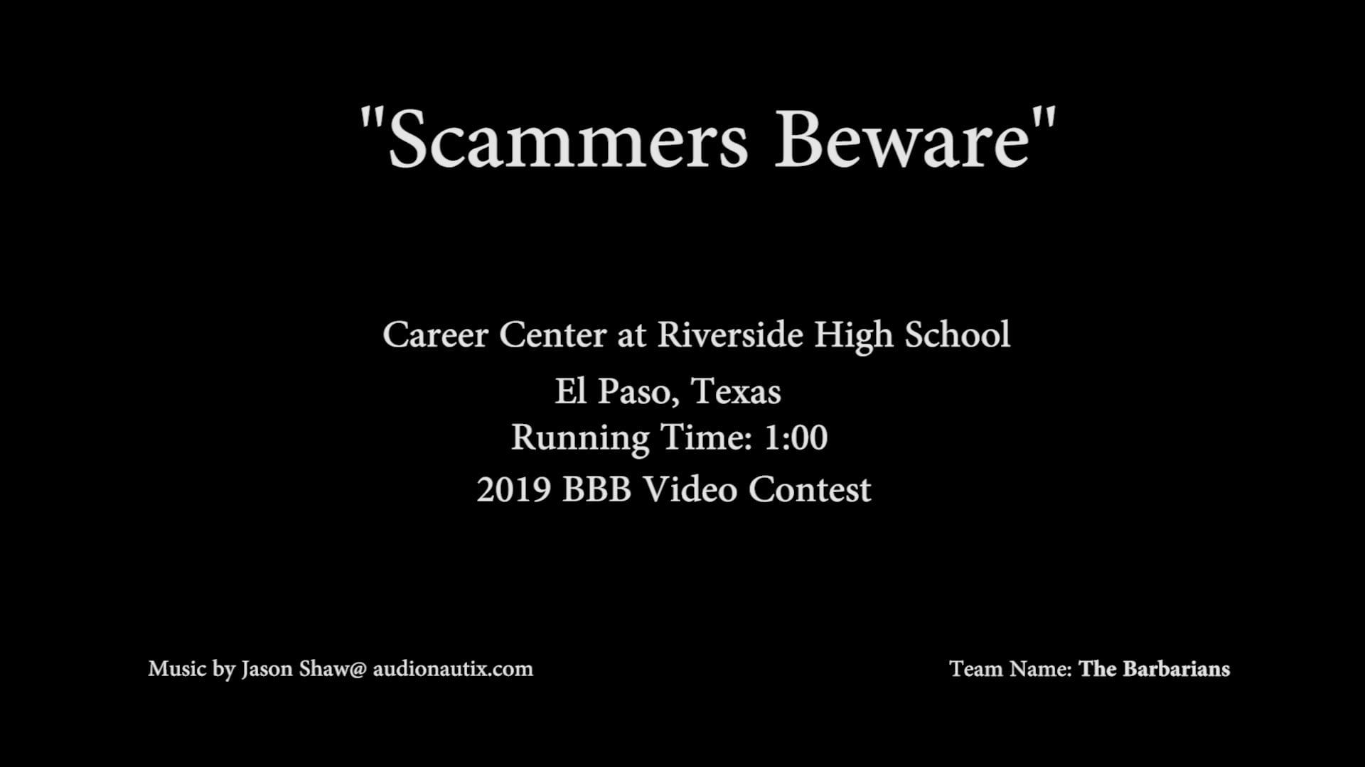 Scammers Beware