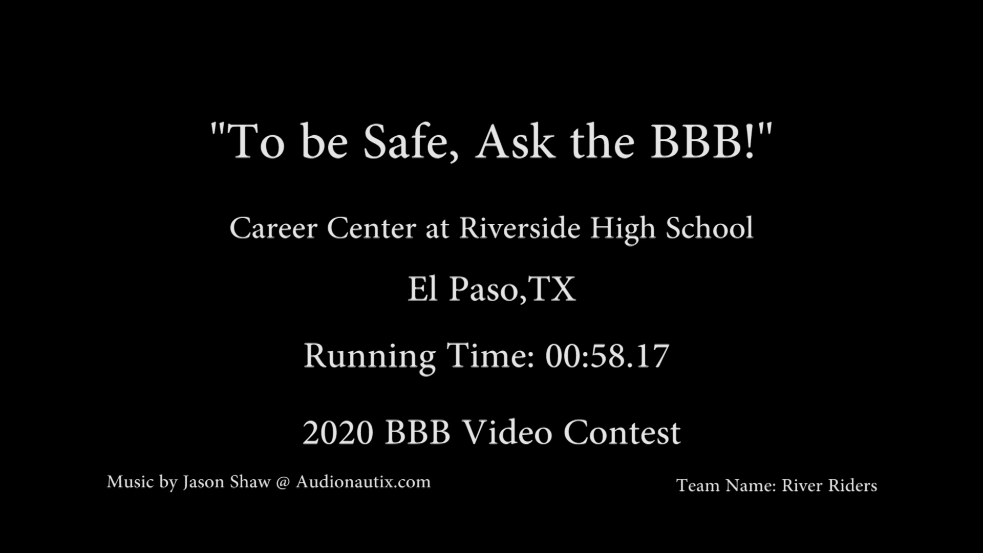 To be safe, Ask the BBB!